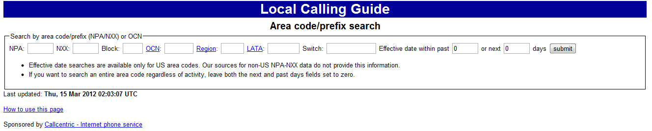 How To Look Up Phone Service Providers By Area Code and Extension