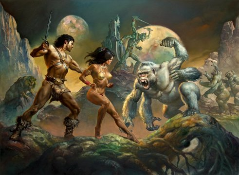 John Carter and Dejah Thoris on Mars Art by Boris Vallejo and Julie Bell